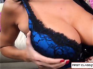 first-ever Class POV-Big booty Ava Addams gargling a humungous trunk