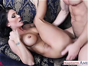 exclusive Jessica Jaymes blows and porks his phat member