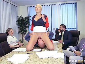 rigorous buxomy boss Nina Elle exploits its employees during a rendezvous