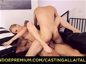 CASTNG ALLA ITALIANA - platinum-blonde vixen raunchy double penetration fuck-a-thon