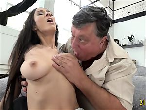ultra-cutie with ginormous bra-stuffers drilled hard