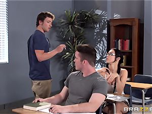 huge-chested professor Ava Addams is banged by her student