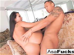 Asa Akira beaten in her cooter slot
