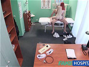 FakeHospital adorable ginger-haired rails medic for cash
