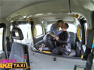 female fake cab French stud gives hatch pulverizing